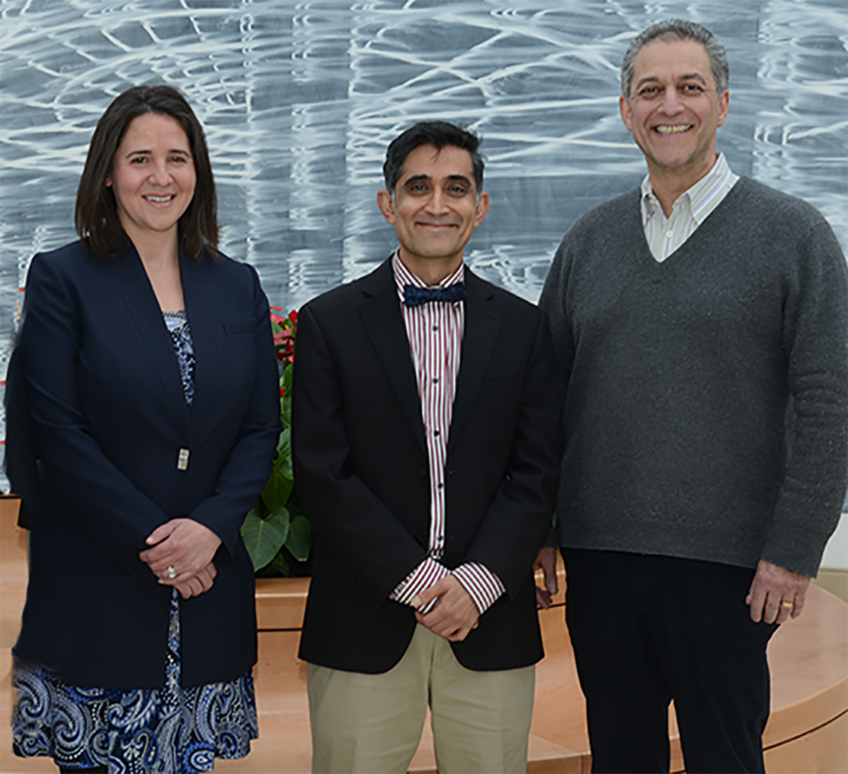 Dr. Nitin Sethi, center, was named Director of the Weill Cornell Medicine Concussion and Brain Injury Clinic