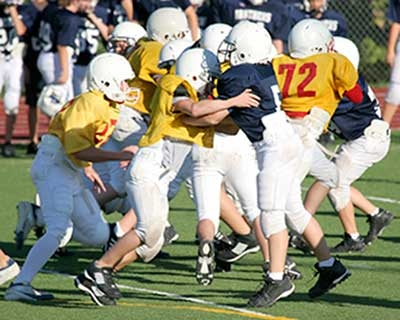 The impacts sustained in a football game are often powerful enough to cause concussion
